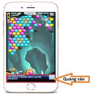Quảng cáo trong game và ứng dụng trên mobile