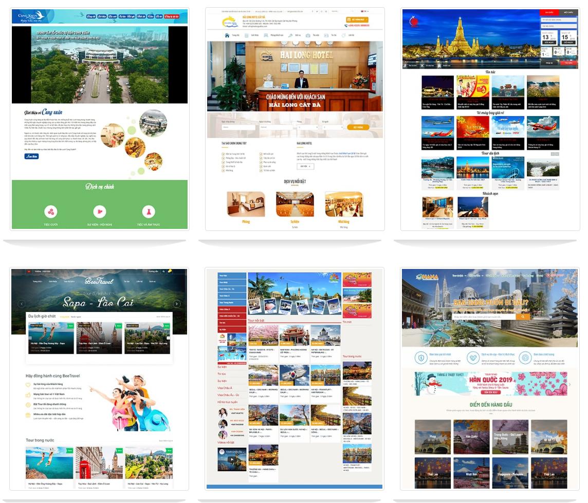 thiết kế website dịch vụ - khách sạn -phòng vé Tâm Nghĩa