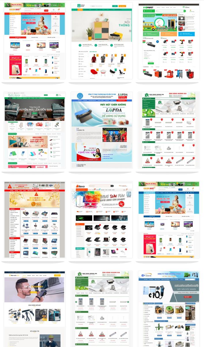 mẫu website điện tử điện lạnh Tâm Nghĩa