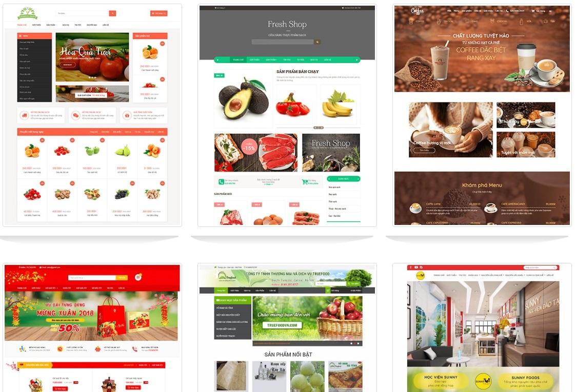 Mẫu website thực phẩm sạch