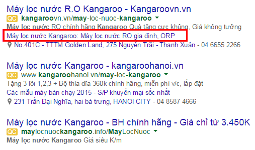 Tích hợp link mở rộng trên mẫu Quảng cáo google adwords