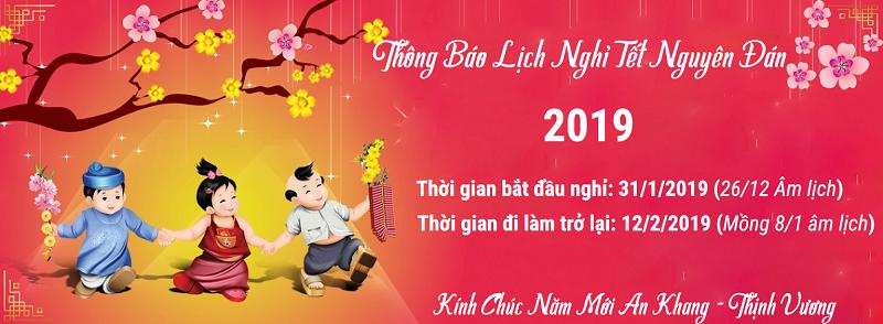 Thông báo lịch nghỉ tết Nguyên Đán 2019