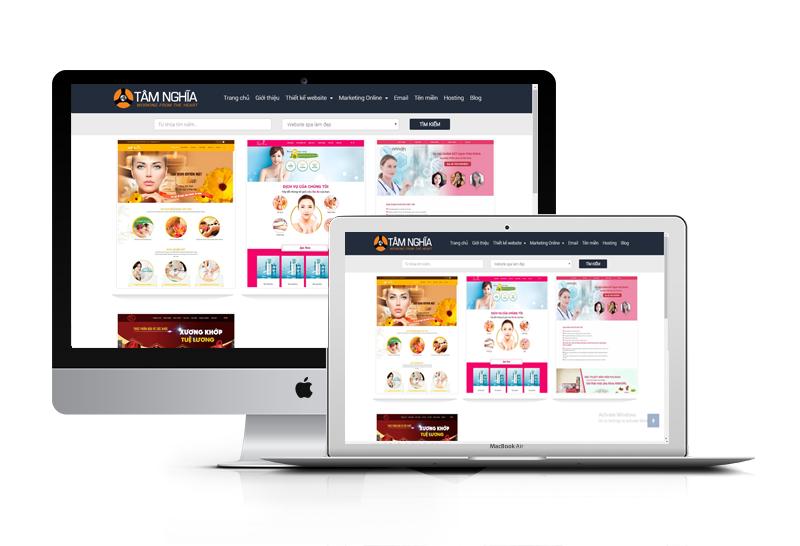 Thiết kế web Spa làm đẹp Chuẩn Seo