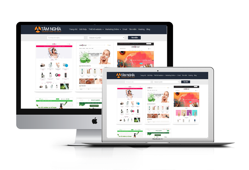 Thiết kế web Mỹ Phẩm chuyên nghiêp - giá rẻ