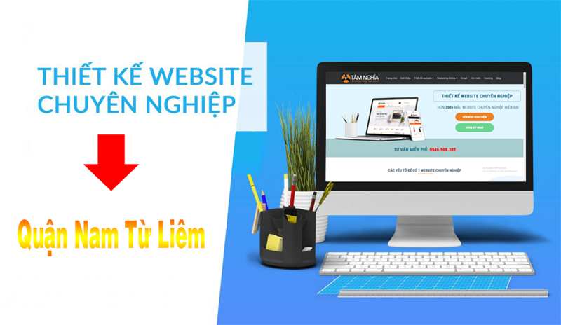 Thiết kế web tại quận Nam Từ Liêm