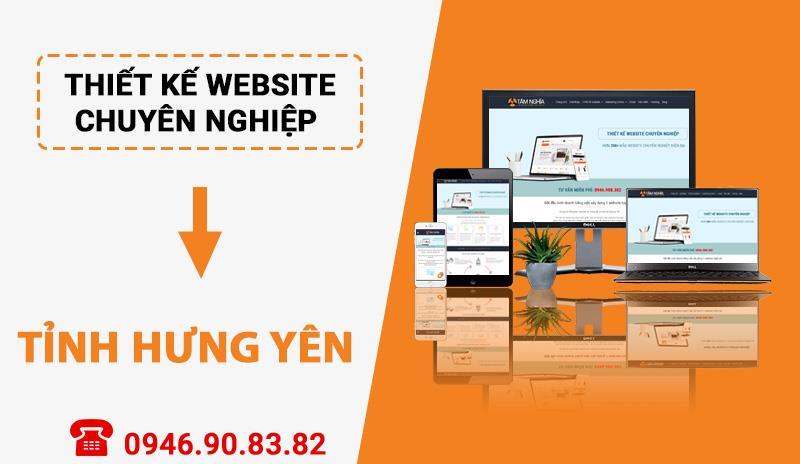 Thiết kế website chuyên nghiệp tại Tỉnh Hưng Yên