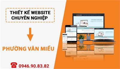Thiết kế website chuyên nghiệp tại Phường Văn Miếu - Đống Đa